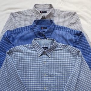 3 Chaps Wrinkle Free Button Long Sleeve Shirts